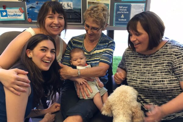 A beautiful moment captured of Leah, Carole, Jacqueline, Renee, baby Seamus and Abby. 4 generations in one picture! Chiropractic care truly is a family affair at Back to Health