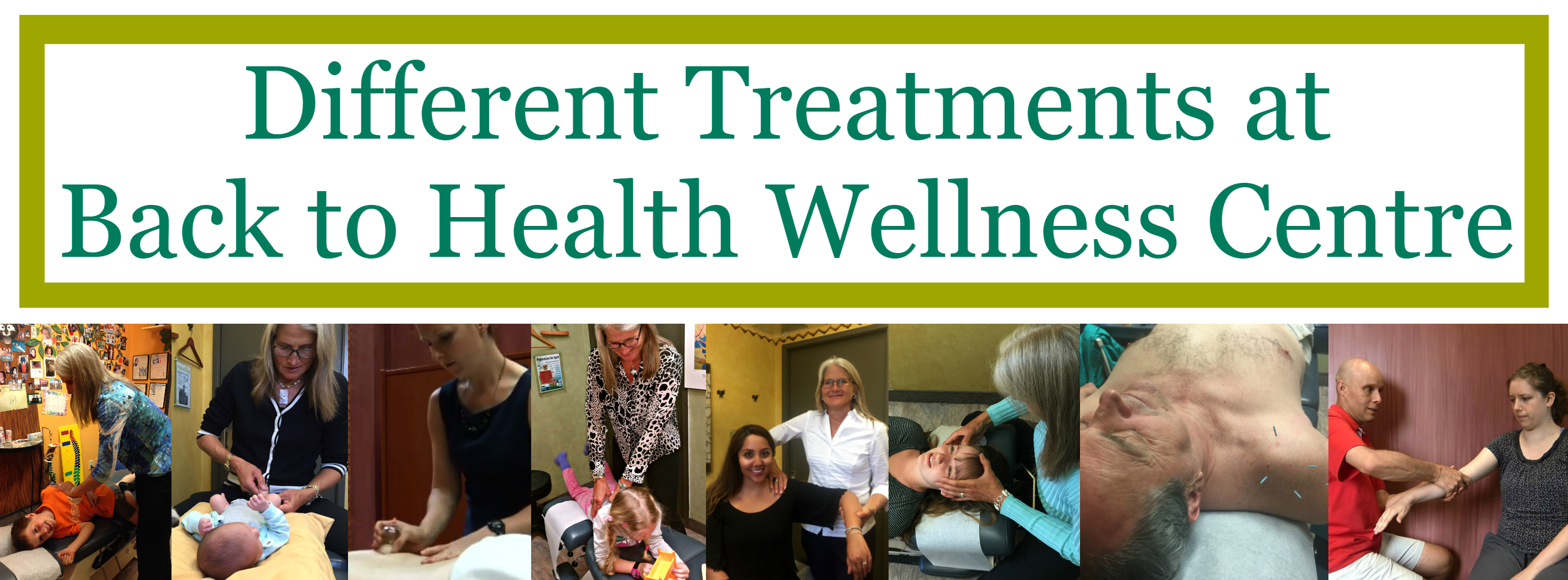 Different Treatments at Back to Health